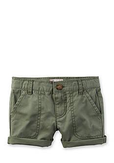 Carter's Twill Roll-Cuff Short Girls 4-6x