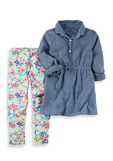 Carter's 2-Piece Chambray Tunic and Legging Set Girls 4-6x
