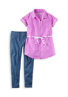 Carter's 2-Piece Checkered Top & Jeggings Set Girls 4-6x