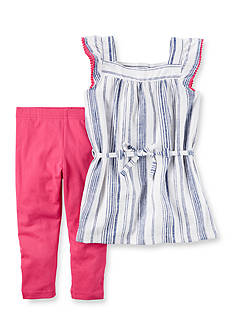 Carter's® 2-Piece Striped Tunic & Legging Set Girls 4-6x