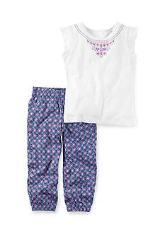 Carter's® 2-Piece Puff Print Top & Printed Jogger Set Girls 4-6x