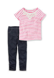 Carter's 2-Piece Striped Tee and Jeggings Set Girls 4-6x