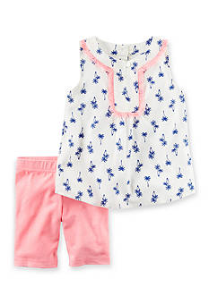 Carter's 2-Piece Printed Tank & Neon Playground Short Set Girls 4-6x