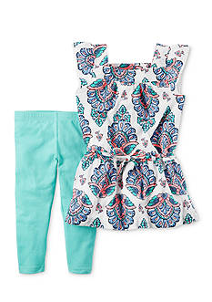 Carter's 2-Piece Crinkle Gauze Tunic & Legging Set Girls 4-6x
