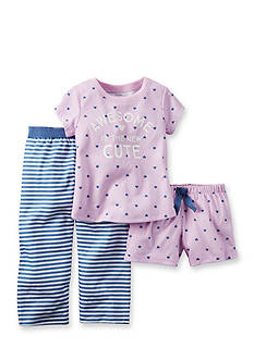 Carter's® 3-Piece 'Awesome is the New Cute' Pajama Set Girls 4-6x
