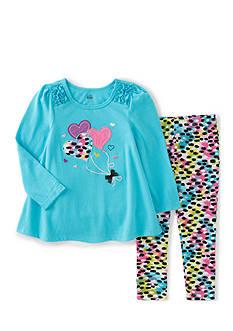 Kids Headquarters Tunic and Airbrush Print Leggings Set Girls 4-6x