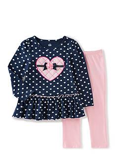 Kids Headquarters 2-Piece Hearts Tunic & Legging Set Girls 4-6X