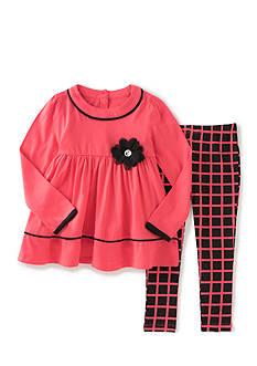 Kids Headqrtrs Girls Pink Black and Plaid Set Girls 4-6X