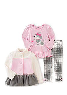 Kids Headqrtrs Girls Poodle Jacket Set Girls 4-6X