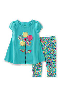 Kids Headquarters 2-Piece Floral Top And Leggings Set Girls 4-6x