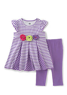 Kids Headquarters 2-Piece Printed Top And Leggings Set Girls 4-6x