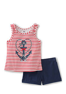 Kids Headquarters Anchor Top and Short 2-Piece Set Girls 4-6x