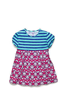 J. Khaki® Stripe to Paisley Babydoll Top Girls 4-6x