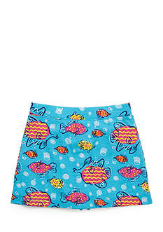 J Khaki™ Fish Print Scooter Skirt Girls 4-6x