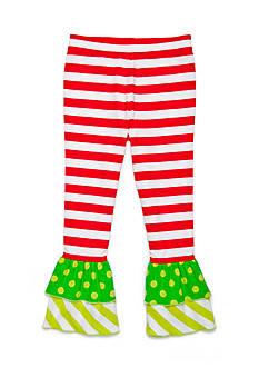 J. Khaki Ruffle Pant Girls 4-6x