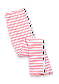 J. Khaki Stripe Leggings Girls 4-6X