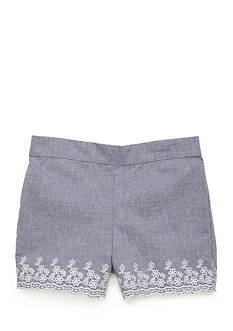 J. Khaki Chambray Shorts Girls 4-6x