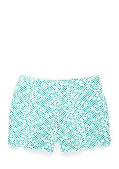 J. Khaki Scroll Shorts Girls 4-6x
