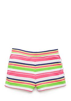 J. Khaki Crochet Trim Short Girls 4-6x