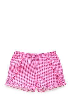 J. Khaki Polka Dot Ruffle Short Girls 4-6x