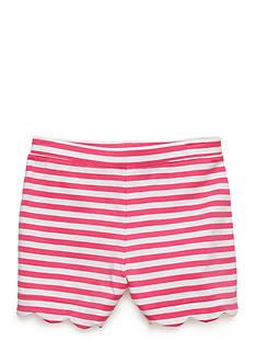 J. Khaki Stripe Scallop Short Girls 4-6x