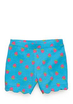 J. Khaki Strawberry Scallop Short Girls 4-6x