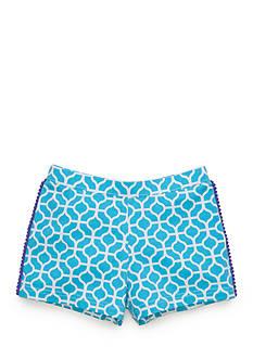 J. Khaki Geo Print Short Girls 4-6x