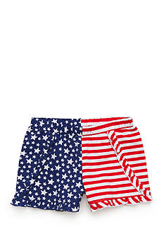 J. Khaki Flag Shorts Girls 4-6x