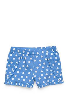 J. Khaki Polka Dot Shorts Girls 4-6x