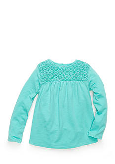 J. Khaki® Babydoll Crochet Top Girls 4-6x