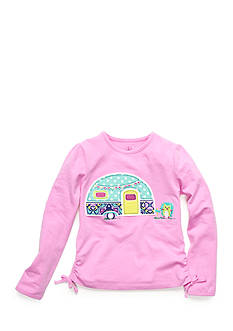 J Khaki™ Patterned Camper Top Girls 4-6x