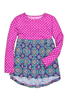 J Khaki™ Dot Medallion Babydoll Top Girls 4-6x