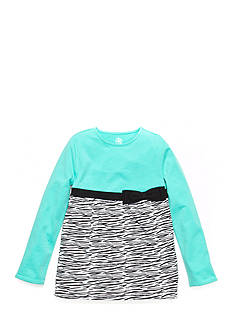 J Khaki™ Long Sleeve Zebra Print Babydoll Top Girls 4-6x