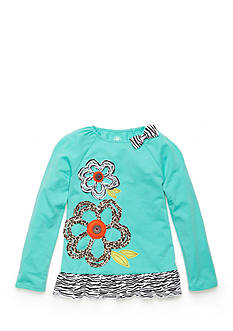 J Khaki™ Animal Flower Baby Doll Top Girls 4-6X