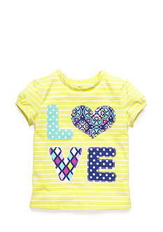 J. Khaki® Stripe 'Love' Tee Girls 4-6x