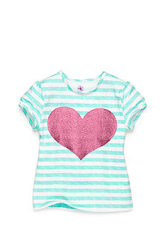 J. Khaki® Stripe Heart Top Girls 4-6x
