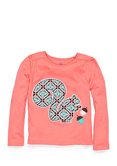 J. Khaki® Long Sleeve Squirrel Top Girls 4-6X