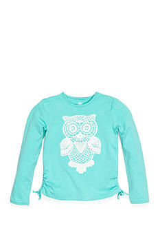 J. Khaki® Long Sleeve Crochet Owl Tee Girls 4-6X