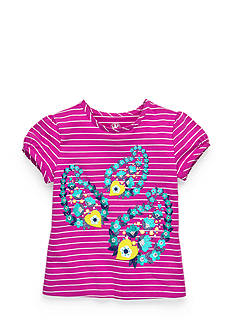 J. Khaki® Stripe Paisley Top Girls 4-6x