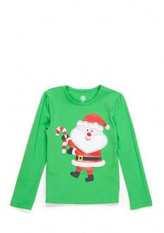 J. Khaki Santa Tee Girls 4-6x