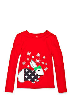 J. Khaki Snow Bunny Tee Girls 4-6x