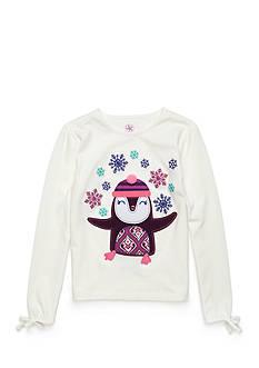 J. Khaki Penguin Tee Girls 4-6x