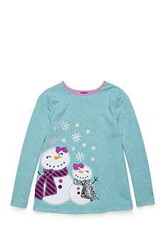 J. Khaki Snowgirl Babydoll Top Girls 4-6x