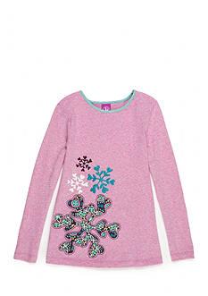 J. Khaki Snowflake Babydoll Top Girls 4-6X