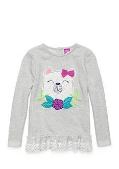 J. Khaki Bear Sparkle Sweater Girls 4-6X