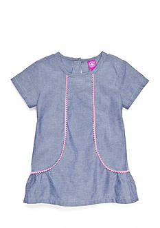 J. Khaki Chambray Top Girls 4-6x