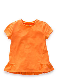 J. Khaki Basic Ruffle Top Girls 4-6
