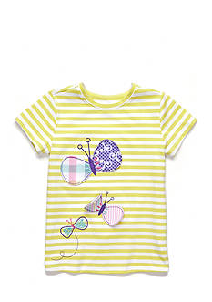 J. Khaki Stripe Butterfly Top Girls 4-6x