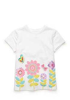J. Khaki Girls Flower Border Tee Girls 4-6x