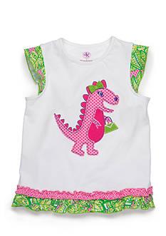 J. Khaki Dinosaur Tee Girls 4-6x
